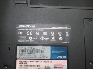 Ноутбук на запчасти модель Asus K52F