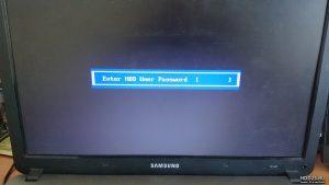 Сброс пароля на жестком диске HDD Samsung