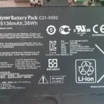 Ноутбук ASUS X502C на запчасти, батарея