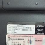 Заводские данные HP Pavilion dv6