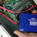 Замена обычного HDD диска на новый SSD диск, Владивосток